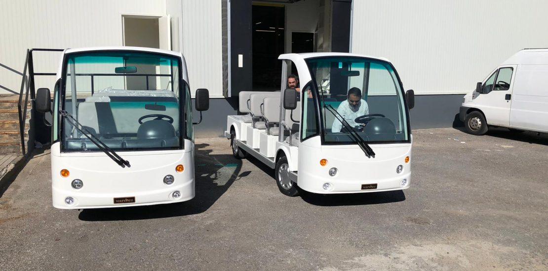 Minibuses eléctricos Marshell para Bahco