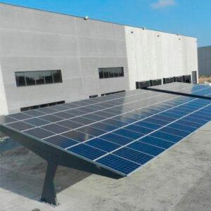 Kit Marquesina Solar Poste Doble